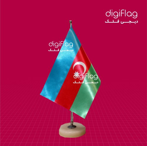 پرچم رومیزی کشور آذربایجان